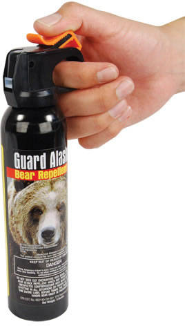 Bear Pepper Spray in Hand