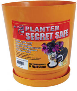 Flower Pot Secret Safe